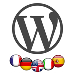 WordPress setup one language for admin and the other for theme